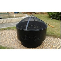 "30"" fiberglass firepit for garden patio"