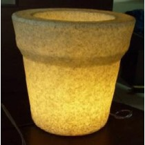 Small Slim Line Natural Virgin Planter with CFL Light Height 600mm