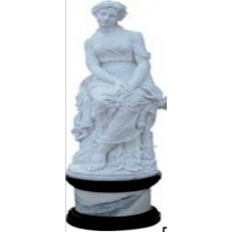 Pure White Marble Sculpture Of Lady