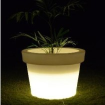 White Marble Finish Planter With CFL Lights Height 900mm