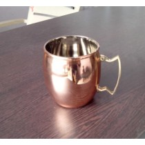 Unique and stylish hammered copper mug