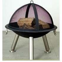 "30"" Black Iron Fire Pit With outer Jali"