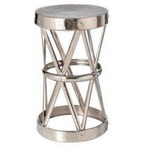 Iron stool with nickel plated, Size 38x38x45.75 CM