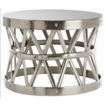 Iron stool with nickel plated, Size 71x71x43.25 CM