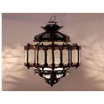 Iron with glass lantern Size-24""