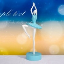 Italian style blue environmental resin ballet dancing girl craft festival gift
