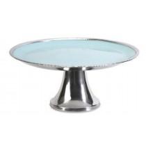 L blueish Aluminum Cake Stand