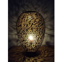 Lamp Oval (Egg) Big zebra Etching