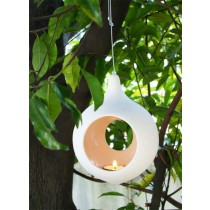 Peach Hanging Votive Holder