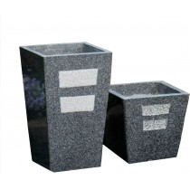 Large Tall Tapered 65cm Stone Planter
