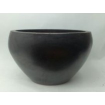 New Glazed Black Ht 24'' Ceramic Planter