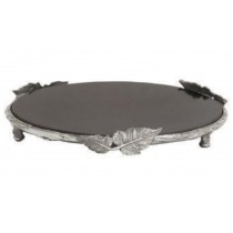 Leaves design on border  Aluminum Cake Stand