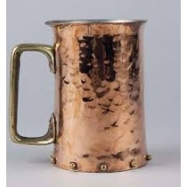 Copper mug hammered