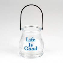 Life is Good Glass Lantern