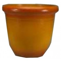 Light Orange Finish 17.5 Inch Height Plastic Planter