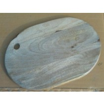 Light Wooden Chopping Board Round Edge