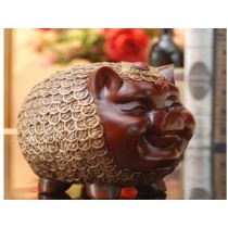 Lucky gold pig for money saying box (B)