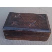 Mango Wooden Box With Stars & Moon Design 6.5'' x 4.5'' x 2.5''