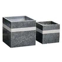 Medium 30cm Cube Shaped Stone Planters