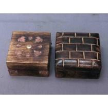 Metal Design Leaf & Wall Design Wooden Box