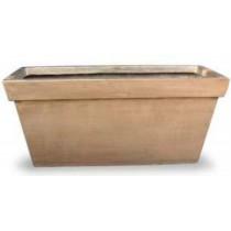 Metallic Brown 24 Inch Fiberglass Planter