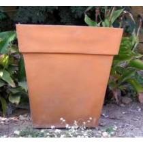 Metallic Copper 16 Inch Height Fiberglass Planter