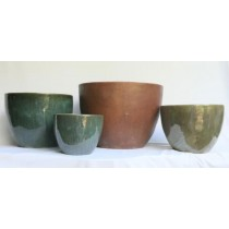 Moss Green Ht 30cm Ceramic Planter