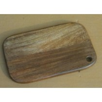Natural Shade Curved Wooden Chopping Board