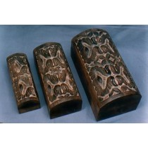 5'' x 7'' Medium Natural Wood Decorative Design Wooden Box