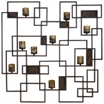 Nested Square Wall Candle Holder