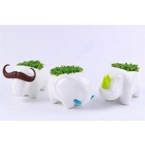 New Animal Shape Ceramic Pot Set Of 3 Pcs