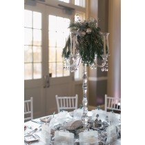 New Arrival 5 Arms Wedding Glass Candelabra