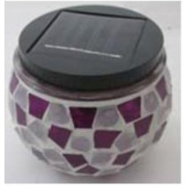 New arrival solar round mosaic ball light jar