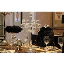 New Crystal 9 Arms Modern Glass Candelabras