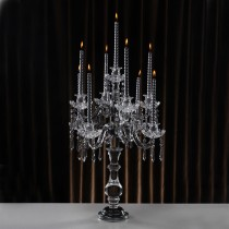 New Wedding Decor 9 Crystal Arms Candelabras