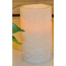 LED candle yellow light with painting