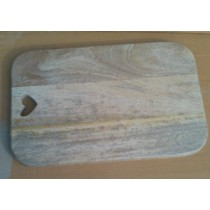 Oak Rectangular Chopping Board with Cut-out Heart