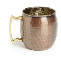 Antique plain copper mug