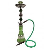 Medium Decorative Silver Metal & Acrylic  Green  Hookah (1.2 m normal hose)