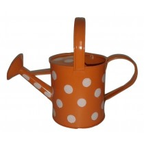 Orange Color Polka Dots Watering Can