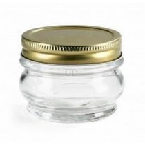 OrtoLano Canning Jar with Golden Lid