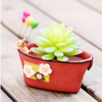 Oval Shape Flower Pattern Ceramic Planter