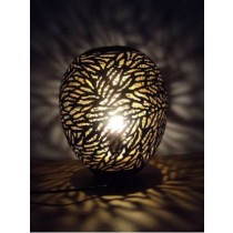 Oval shape Lamp zebra Etching