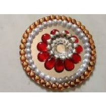 Pearl Decorative Floating Kundan Lamp