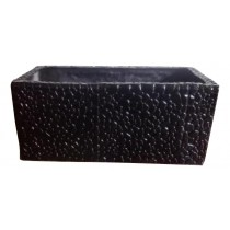 Pebble Design 28 Inch Rectangular Fiberglass Planter
