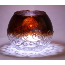 Pebeo Vitrial Silver Glitter Candle Holder