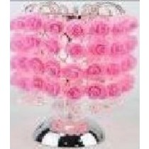 Pink Metal Rose Lamp