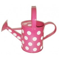 Pink Watering Can With Polka Dot
