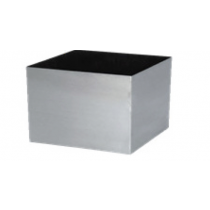 Medium Aluminium Square Satin Finish / Inner Epoxy Planter