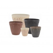 Durable Round Stone Planter 33.8cm Height